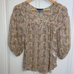 Anthropologie Dil Paisley Blouse